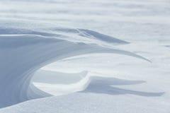 ένα χιονώδες κύμα Στοκ εικόνα με δικαίωμα ελεύθερης χρήσης