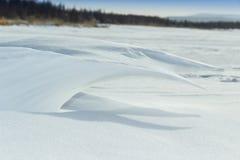 ένα χιονώδες κύμα Στοκ Εικόνες