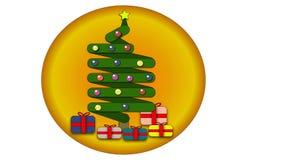 Ένα χριστουγεννιάτικο δέντρο στοκ εικόνες