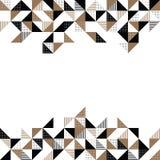 Ένα χρυσό και μαύρο γεωμετρικό υπόβαθρο Στοκ εικόνες με δικαίωμα ελεύθερης χρήσης