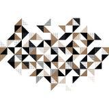 Ένα χρυσό και μαύρο γεωμετρικό υπόβαθρο Στοκ φωτογραφία με δικαίωμα ελεύθερης χρήσης