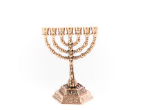 Ένα χρυσό Menorah #2 Στοκ Εικόνα