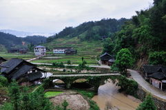 Ένα χωριό της κομητείας Xinhua Στοκ εικόνα με δικαίωμα ελεύθερης χρήσης