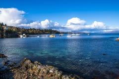 Ένα όμορφο βράδυ στο λιμάνι Armadale, νησί της Skye, Σκωτία Στοκ Εικόνες