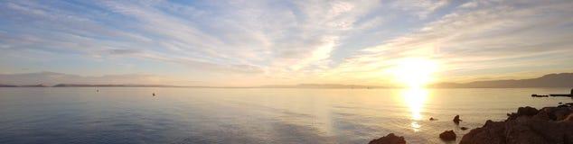ένα όμορφο ηλιοβασίλεμα κοντά στο Rijeka στοκ φωτογραφία