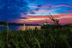 Ένα όμορφο ηλιοβασίλεμα κοντά COX bazar στοκ εικόνα