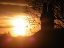 Ένα όμορφο ηλιοβασίλεμα στοκ εικόνες με δικαίωμα ελεύθερης χρήσης