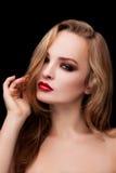 Ένα όμορφο κορίτσι με τη σύνθεση Στοκ εικόνα με δικαίωμα ελεύθερης χρήσης