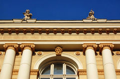 Ένα όμορφο παλαιό κτήριο. Τεμάχιο. Στοκ Φωτογραφίες