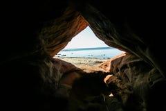 Ένα όμορφο τοπίο των αμμόλοφων στην ακτή της θάλασσας της Βαλτικής Στοκ Φωτογραφία