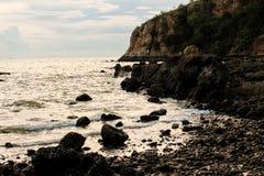 Ένα όμορφο ψηφιακό τοπίο χειρισμού της παραλίας ηλιοβασιλέματος Selecti Στοκ Φωτογραφίες