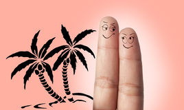Ένα όνειρο ζευγών δάχτυλων στο ταξίδι Στοκ φωτογραφία με δικαίωμα ελεύθερης χρήσης
