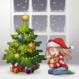 Ένα δώρο Χριστουγέννων Στοκ Εικόνες