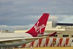 Ένα airbus A330 από τη βρετανική αερογραμμή Virgin Ατλαντικός (ΕΝΑΝΤΙΟΝ) στοκ φωτογραφία
