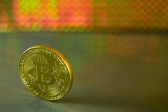 Ένα bitcoin Στοκ Εικόνα