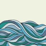 Ένα doodling αφηρημένο υπόβαθρο κυμάτων Στοκ Εικόνες