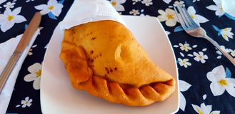 Ένα empanada, νησί Πάσχας, Χιλή στοκ φωτογραφία με δικαίωμα ελεύθερης χρήσης
