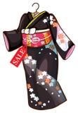 Ένα floral ασιατικό φόρεμα Στοκ Εικόνες