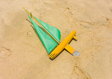 Ένα gumboat σε μια παραλία στις Καραϊβικές Θάλασσες Στοκ Εικόνες