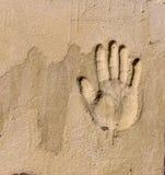 Ένα handprint σε έναν τοίχο Στοκ φωτογραφία με δικαίωμα ελεύθερης χρήσης