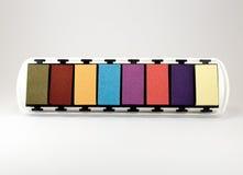 Ένα inkpad των χρωμάτων κρητιδογραφιών Στοκ Φωτογραφία