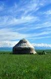 Ένα Khazak yurt Στοκ φωτογραφίες με δικαίωμα ελεύθερης χρήσης