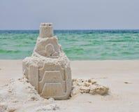Ένα Sandcastle σε μια παραλία της Φλώριδας Στοκ Φωτογραφία