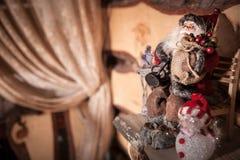 Ένα santa παιχνιδιών… που απομονώνεται Στοκ Φωτογραφίες