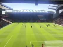 ένα stadion ποδοσφαίρου με τους φορείς στοκ φωτογραφία με δικαίωμα ελεύθερης χρήσης
