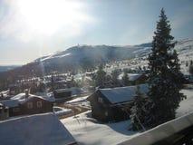 Ένα winterscene στη Νορβηγία Στοκ εικόνες με δικαίωμα ελεύθερης χρήσης