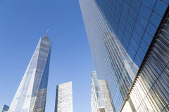 Ένα World Trade Center στην πόλη της Νέας Υόρκης Στοκ φωτογραφία με δικαίωμα ελεύθερης χρήσης