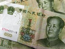ένα yuan στοκ εικόνες με δικαίωμα ελεύθερης χρήσης
