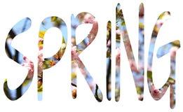 Έννοια άνοιξη, ΑΝΟΙΞΗ επιστολών των λουλουδιών στοκ φωτογραφία