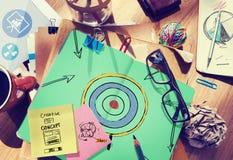 Έννοια έμπνευσης στόχου φιλοδοξίας επιτυχίας στόχων στόχου Στοκ Εικόνες