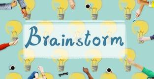 Έννοια έμπνευσης φαντασίας δημιουργικότητας ιδεών καταιγισμού ιδεών απεικόνιση αποθεμάτων