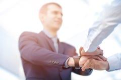 Έννοια ένωσης ομαδικής εργασίας συνεργασίας επιχειρηματιών Στοκ φωτογραφίες με δικαίωμα ελεύθερης χρήσης