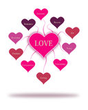 Έννοια λέξεων αγάπης Στοκ Εικόνες