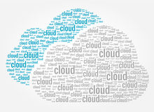 Έννοια λέξεων υπολογισμού σύννεφων Στοκ Φωτογραφία