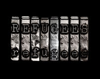 Έννοια λέξης προσφύγων Στοκ φωτογραφίες με δικαίωμα ελεύθερης χρήσης