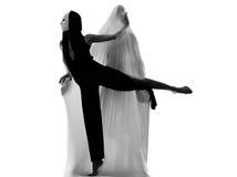 Έννοια αγάπης εκτελεστών χορευτών ζεύγους Στοκ εικόνες με δικαίωμα ελεύθερης χρήσης
