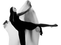 Έννοια αγάπης εκτελεστών χορευτών ζεύγους Στοκ Εικόνες