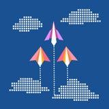 Έννοια αεροπλάνων εγγράφου Στοκ Εικόνες