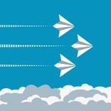 Έννοια αεροπλάνων εγγράφου Στοκ φωτογραφία με δικαίωμα ελεύθερης χρήσης