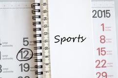 Έννοια αθλητικών κειμένων Στοκ Εικόνα