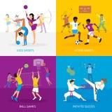 Έννοια αθλητικών παιχνιδιών ελεύθερη απεικόνιση δικαιώματος