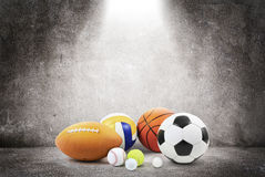 Έννοια αθλητικών σφαιρών Στοκ φωτογραφίες με δικαίωμα ελεύθερης χρήσης