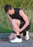 Έννοια αθλητικών τραυματισμών. Στοκ εικόνες με δικαίωμα ελεύθερης χρήσης
