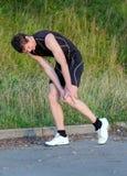 Έννοια αθλητικών τραυματισμών. Στοκ Εικόνα