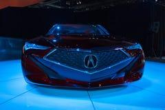 Έννοια ακρίβειας Acura στην επίδειξη στοκ φωτογραφίες