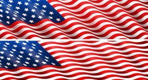 Έννοια αμερικανικών σημαιών Στοκ Φωτογραφία
